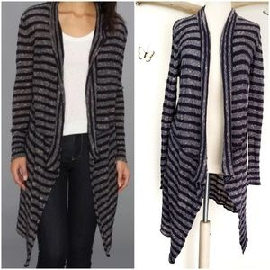 Free people forget me not long striped cardigan
